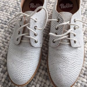 Women's Rollie leather Derby lace-ups, size 38